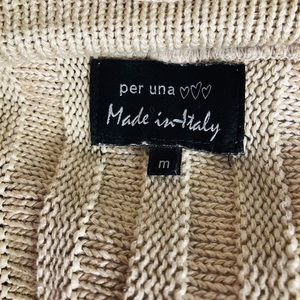 Marks & Spencer Sweaters - Marks & Spencer M Italian Tan Cable Knit Sweater